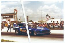 "Drag Racing-Raymond Beadle-""BLUE MAX""-74 Mustang II AA/Funny Car-1975 AHRA Meet"