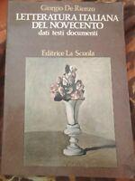 Letteratura italiana del novecento - Giorgio De Rienzo, 1982, La Scuola - S
