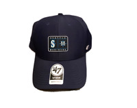 NWT New Seattle Mariners '47 Brand Patch Logo MVP Adjustable Hat