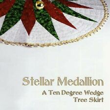 Stellar Medallion Quilt Pattern: A 10 Degree Wedge Tree Skirt