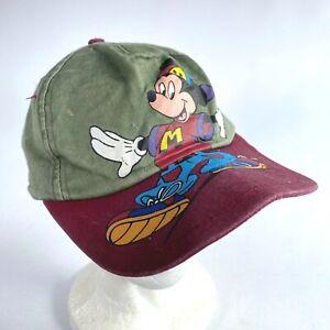 MICKEY MOUSE child's baseball hat cap WALT DISNEY COMPANY multi-colored SNAPBACK