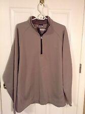 Columbia Taupe Men's Henley Fleece Jacket. Size XL. NEW.