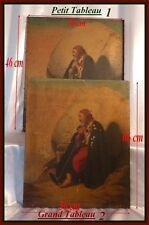 Forçat Italien Paire de Portraits Italiens Signés Jordy 1849 Étude & Toile Finie