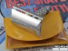 English Gillette Travel Tech Vintage Double Edge Safety Razor