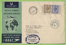 G.B. 1952 Comet BOAC Flight cover, London to Cairo