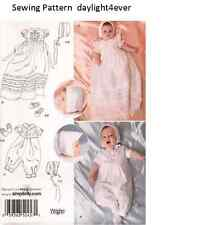 Baby Christening Gown Bonnet Shoes Size XS-M Sewing Pattern 2457 New #k
