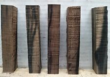 "(5) LOT OF 5,  EXOTIC EBONY  PEN BLANKS WOOD TURNING SQUARE   3/4"" X 3/4"" X 5"""