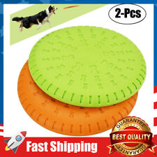 2 Pcs Dog Saucer Flying Disc Rubber Catcher Toy 9 Inch Large Dog Frisbee Toys