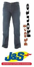 Pantalon bleu para-aramide pour motocyclette