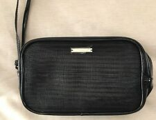 Giorgio Armani Patent Leather Gold Black Makeup Case Cosmetic Pouch BNIB