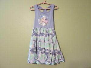 Disney Frozen II Elsa Girl's Purple & Green Dress