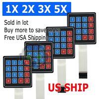 4x4 4X3 Matrix Array 12 Key Membrane Switch Keypad Keyboard for Arduino/AVR/PIC