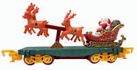 Toy State Santa Sleigh Reindeer Car North Pole Christmas Express Train Animated