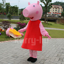 Halloween BRAND Peppa Pig Mascot Costume Animal Birthday COS Party Dress Adults