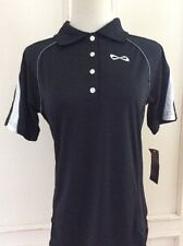 NFINITY Women's Black with White Accent Short Sleeve Athletic Shirt- Medium
