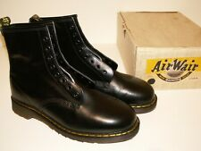 vintage Dr. Martens black leather boots double stitched made in England uk 11