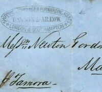 GB HANTS Cover Southampton FORWARDING AGENT 1855 Privately Carried MADEIRA M212a