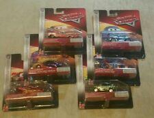 6 DISNEY CARS METALLIC SCAVENGER HUNT Lot Sally, Revler Stickers McQueen Ramone