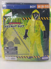 Zombie Hazmat Suit Costume Boy's Medium Jumpsuit Mask NO GLOVES NEW 1381