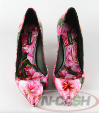 Authentic $670 Dolce & Gabbana Floral Printed Leather Pumps D&G Shoes