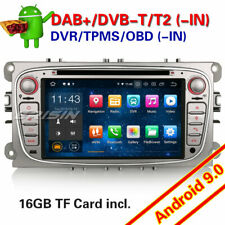 Android 9.0 Autoradio GPS DAB+ For Ford Focus Mondeo C/S-Max Galaxy OBD BT DVR