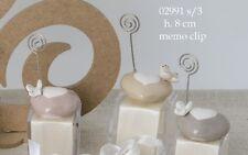 Bomboniera Segnaposto in ceramica con Memo Clip battesimo comunione matrimonio
