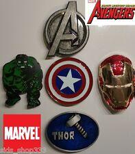 5 BELT BUCKLES AVENGERS LOT HULK THOR IRON MAN CAPT AMERICA comic con cosplay