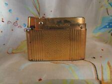 ancien briquet silver match metal doré vintage