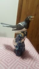 More details for beautiful ❤ vintage bird magpie corvid ornament look!