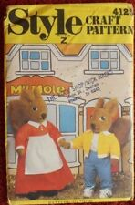Style 4123 Tufty Squirrel  and Mrs Fluffytail & Clothes Vintage Pattern - UNCUT