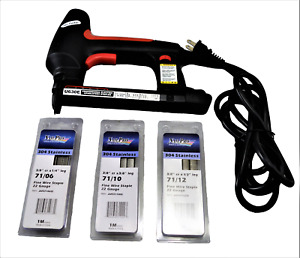 MARINE UPHOLSTERY STAPLE KIT INCLUDES ELECTRIC STAPLER AND STAINLESS STAPLES