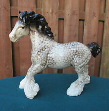 BEAUTIFUL BESWICK ROCKING HORSE GREY CANTERING SHIRE HORSE - 975