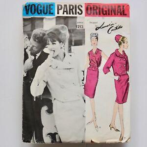 60s vtg Lanvin Castillo Couture suit blouse Vogue Paris Original sewing pattern