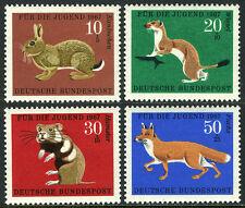 Germany B422-B425, MNH. Wild animals: Rabbit, Ermine, Hamster, Red Fox, 1967