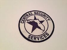 Central Security Services Patch Brand New Smoke Free Enviroment