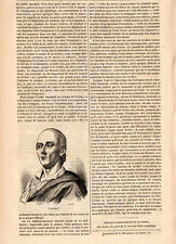 PIERRE JEAN BAPTISTE GERBIER PRESS ARTICLE 1847 PRINT