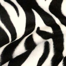 Negro y Marfil Cebra Raya Imprimir VELBOA Tejido de piel sintética (por Metro)