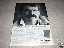 Klipsch Heresy II Ad from 1987, 1 page