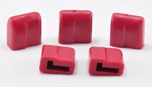 (5) Rubber Caps For Male Deans / T- Plug Connectors