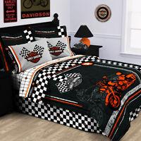 Harley Davidson® Racing Flag Pillow Sham