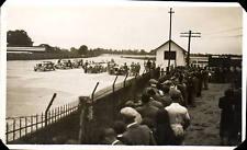 Brooklands. Motor Car Races & Crowd.