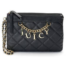 NWT Juicy Couture Quilted Chain Wristlet Clutch Wallet Designer Purse Tote Bag -