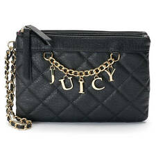 Juicy Couture Quilted Wristlet Chain Clutch Wallet Designer Purse Tote Bag NWT -