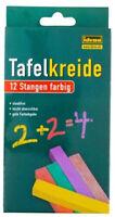 12 Stangen Tafelkreide Kreide Schulkreide Wandkreide Malkreide bunt farbig