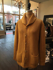 Le Bolero Paris Vintage Mustard Knit Cardigan Sweater - 1960s
