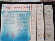 Krypts Quarterly Crier; Yr 4, Volume4 loose issues