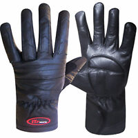Ladies Leather Biker Gloves Motorbike / Motorcycle Gloves Padded Palm  S,M,L,XL
