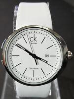 Calvin Klein Women White Leather Strap Watch K0H23101 - Retail $265 (51% off)