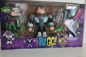5 Pcs Teen Titans Go Robin Cyborg Beast Boy 2 Little Buddies Action Figure Toy