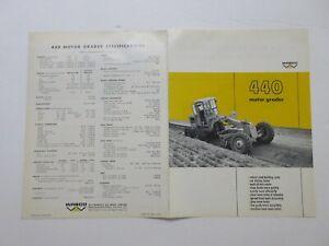 Rare Wabco 440 Motor Grader Sales Brochure 1967